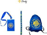 Pack Peregrino porta credencial impermeable pulsera de tela del Camino y cubre mochilas impermeable
